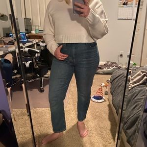 Madewell high rise slime boy jeans size 28